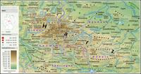 Topographische Karte des Harzes