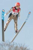 Seyfarth beim Weltcup in Hinzenbach im Februar 2016