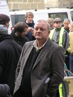 Leonard Lansink bei Dreharbeiten zu Wilsberg am 31. Oktober 2007 in Münster