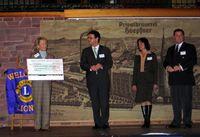 Frau Birgin, Professor Dr. Wöltje, Frau, Bürgermeisterin Mergen und Herr Götz auf der Bühne (v. li nach re). Bild: ExtremNews / Thorsten Schmitt