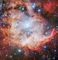 Aufnahme der FORS-Kamera vom Sternentstehungsgebiet NGC 2467. Quelle: Bild: ESO (idw)