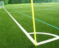 Trainingsgeländer auf einem Fußballplatz (Symbolbild)