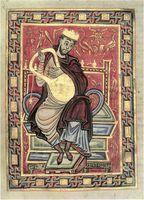 Egbert-Psalter, fol. 20v, König David