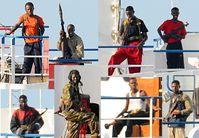 Somalische Piraten auf der Faina