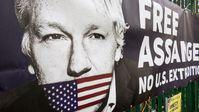 """Seine Unterstützer fordern die Freilassung von """"WikiLeaks""""-Gründer Julian Assange  Bild: ZDF Fotograf: ZDF/Nicolas Vescovacci"""