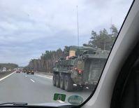Militärkonvoi unterwegs Richtung Berlin (Feb. 2019)