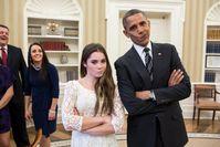 McKayla Maroney mit Präsident Barack Obama (2012)