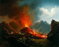 Hubert Sattler Vulkanausbruch am Vesuv