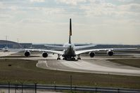 Lufthansa Airbus A 380 D-AIMB (Heckansicht)