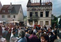 Gemeinsame Demonstration von Deutschen und Türken am Tatort im Juni 1993