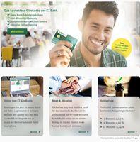 Bild: Screenshot der Webseite von der KT Bank