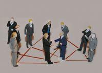 Netzwerk / Geheimdienst / Spion / Kontakte / Wirtschaftsmänner (Symbolbild)