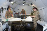 Sanitätsdienst der Bundeswehr: Übungsaufbau eines Feldlazaretts