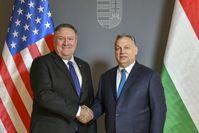 Michael R. Pompeo und Viktor Orban (2019)