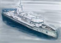 Eine Designskizze der Lürssen Werft zu den neuen Flottendienstbooten.  Bild: Lürssen Fotograf: Lürssen
