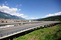 Brennerautobahn in Innsbruck