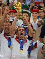 Philipp Lahm nach dem Gewinn der WM 2014
