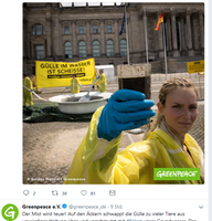 Bild: Screenshot Greenpeace e.V. Twitter-Account