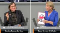 Bedankten sich im Bundestag bei der linksterroristischen Antifa: Martina Renner (Linkspartei) und Canan Bayram ( Bündnis 90/Die Grünen) (2019)