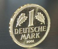 1-DM-Goldmünze von 2001 Bild: de.wikipedia.org