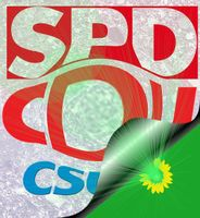 Große Koalition (GroKo) mit SPD, CDU und CSU am Ende? Was danach? Ultragrün? (Symbolbild)