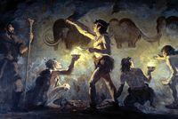 Illustration von Cro-Magnon-Menschen