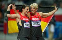Christina Obergföll und Linda Stahl. Bild: Camera4/ISTAF