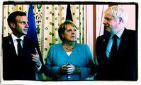 Merkel, Johnson und Macron (2020)