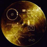 Golden Record Cover mit Gebrauchsanleitung