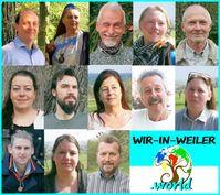 Kandidaten von WIR-IN-WEILER (v. oben links): André Ott, Petra Müller, Hans Bernd Glöckner, Nadine Meuser, Andreas Sielaff, Catharina Otto, Richard Altmann, Karin Heim, Hans-Peter Weik, Patricia Kalmbach, Florian Wolf, Ina Leibeck, Alois Wolfgang Aichner (2019)