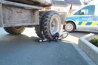 Abstellort des Baggers nach dem Unfall Bild: Polizei