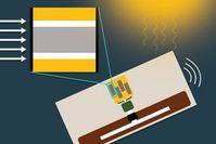 Prinzipskizze der neuen Sensor-Solarzelle-RFID-Einheit.