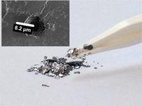 Kish-Graphit: ein Abfallprodukt aus der Stahlproduktion. Bild: Empa, ETH Zürich