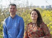 Forscher Aleksandar Matic und Carmen Cavallo.