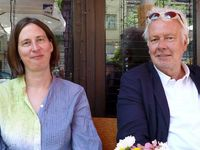 Kathrin Röggla und Thomas Hocke in Sofia. Bikd: ZDF und Mehmet Ulutas .