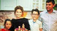 Wladislaw Kljuschin (rechts) mit seiner Ex-Frau und den Kindern (September 2020)