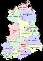 Bezirke der DDR und Ost-Berlin ab 1952