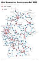 """Die Situation auf Deutschlands Autobahnen in den Sommerferien  Bild: """"obs/ADAC/ADAC e.V."""""""