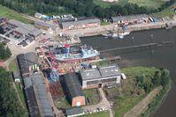 Blick auf die Elsflether Werft