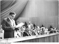 Bernhard Quandt auf dem V. Parteitag der SED, 1958