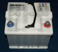 Autobatterie mit einer Spannung von 12Volt und einer Kapazität von 36Ah