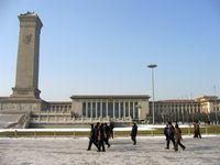 Die Große Halle des Volkes auf dem Platz des himmlischen Friedens ist das Parlamentsgebäude der Volksrepublik.