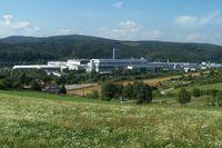 Gesamtansicht des Opel-Werks in Eisenach