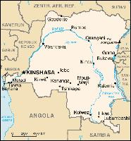 Karte der Demokratischen Republik Kongo. Bild: de.wikipedia.org