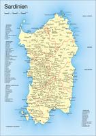 Sardinien: Die neuen Provinzen.
