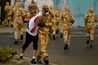 Qatar Armed Forces in training.