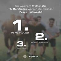 """Fans aus Leverkusen und Wolfsburg haben den meisten Sex, Leipziger sind am untreuesten - der erotische Bundesliga-Fan-Report Bild: """"obs/Quelle: JOYclub"""""""