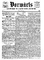 Titelseite des Vorwärts vom 1. Oktober 1876