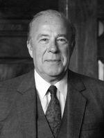 George Shultz während seiner Zeit als Außenminister