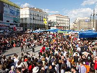 Demonstration auf der Puerta del Sol in Madrid, 20. Mai Bild: Kadellar / de.wikipedia.org
